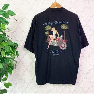 Harley-Davidson Las Vegas Pin-up Girl Button Down